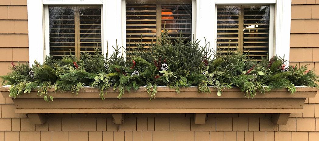 Winter Window Box Decor