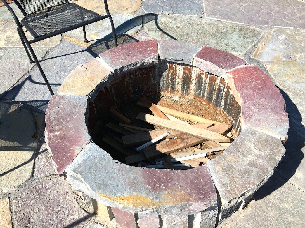 flagstone firepit