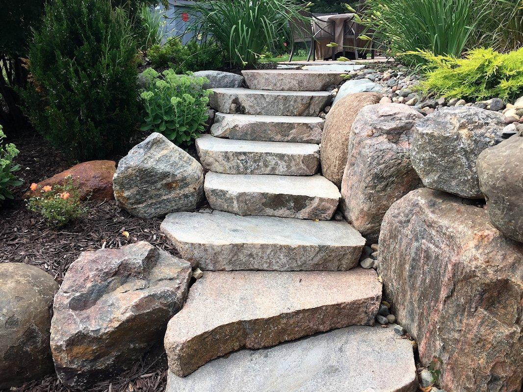 Sawn Boulder Stairway