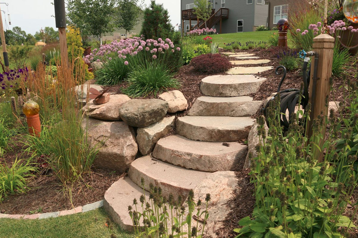 Outdoor Stairway with Stone Steps