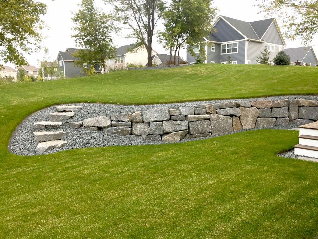 Grey Trap Retaining Wall