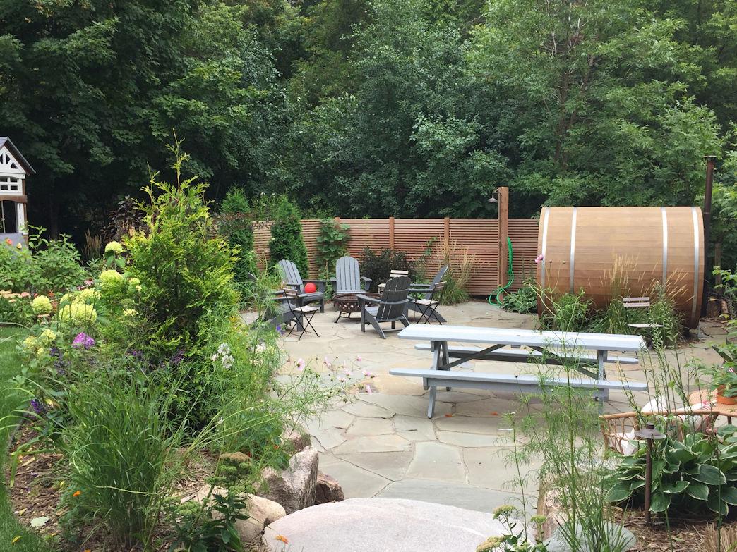 Excelsior Backyard Sauna natural enclosure