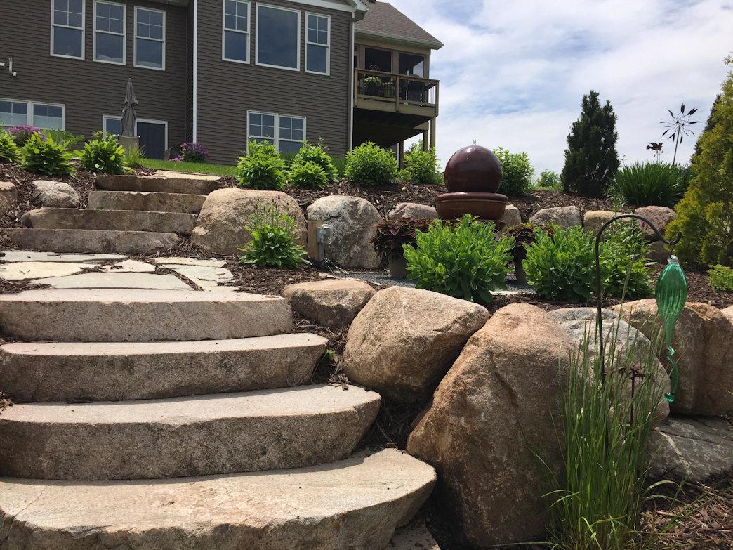 Terraced garden water feature