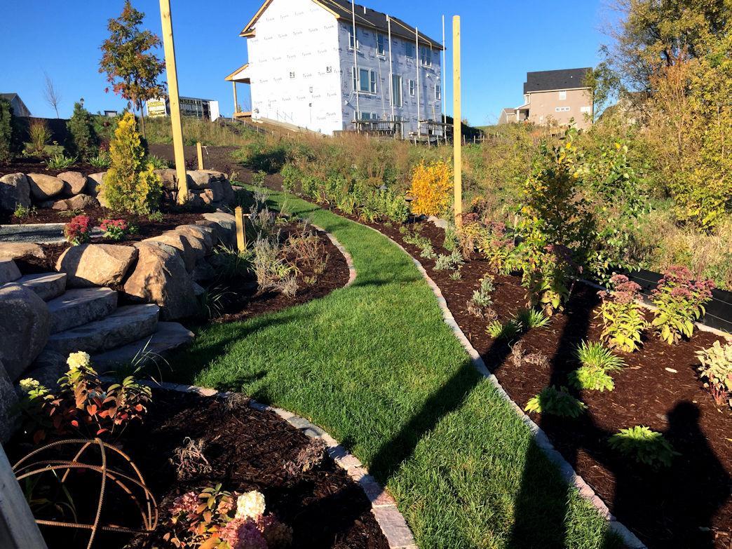 Completed terrace garden